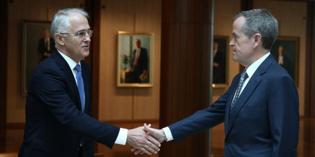 Prime Minister Malcolm Turnbull and Opposition leader Bill Shorten had a rare moment of unity on Monday.