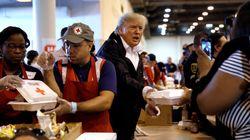 Donald Trump Visits Hurricane Harvey Survivors In