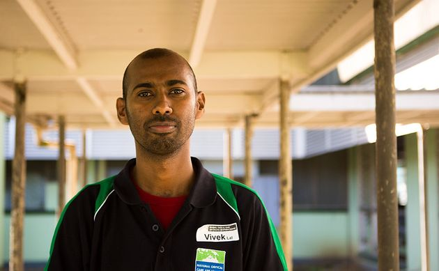 Emergency doctor Vivek Lal worked through Cyclone Winston. Picture: Cayla