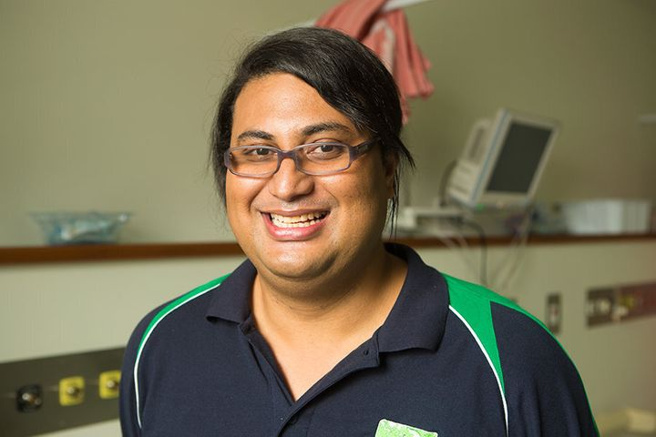Mamatuki Sosefo is being trained to teach the Australian MIMMS course in Fiji. Picture: Cayla Dengate