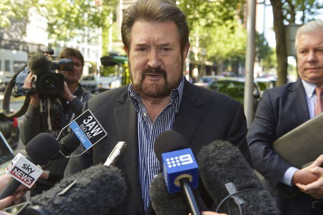 Hinch arrives at the Melbourne Supreme Court for his hearing in