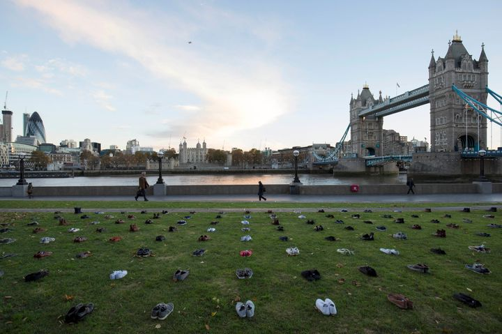 Another 247 pairs were organised for London's Pottersfield Park in the United Kingdom.