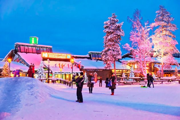Santa Claus office in Rovaniemi town, Finnish Lapland.