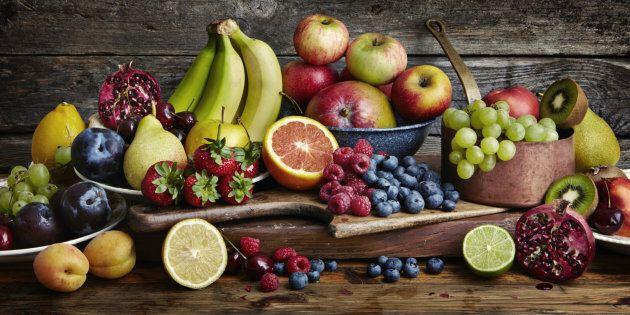 Assorted fresh fruit.