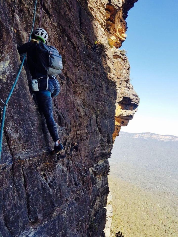 Cassie White on her recent climb.