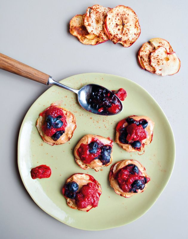Don't have almond butter and berries? Try using peanut butter and