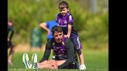 Billy Slater And His Son Are The Ultimate Training