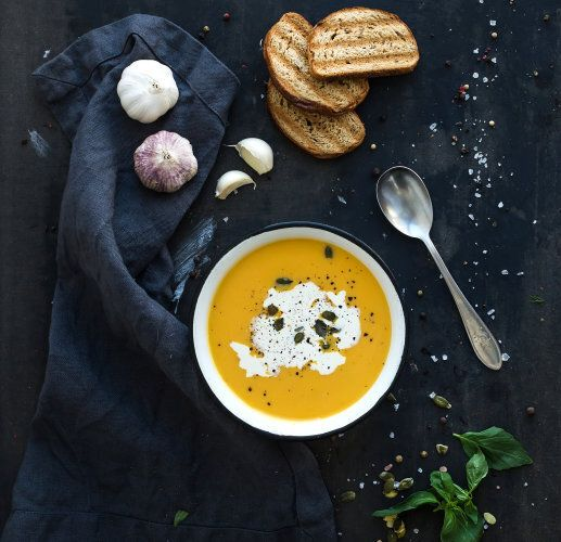 Pumpkin soup is always a good