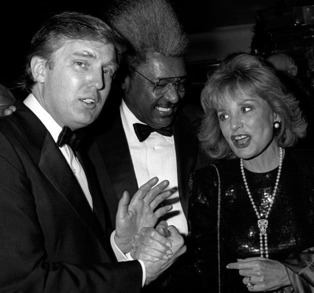 onald Trump, Don King and Barbara Walters attend 'The Art of the Deal' Book Party on December 12, 1987...