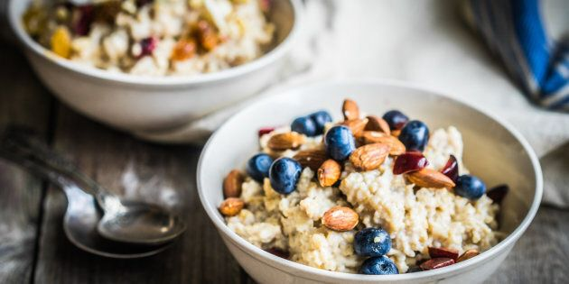 Try topping your morning porridge with some fruit, a few nuts and seeds or cinnamon to boost the nutrition.