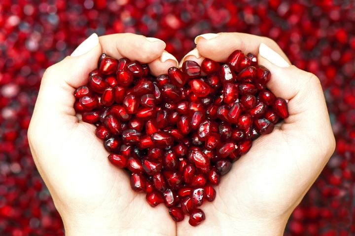 To easily remove the arils (the edible part of a pomegranate), cut the fruit in half, give it a gentle squeeze and beat it upside down with a wooden spoon into a bowl.