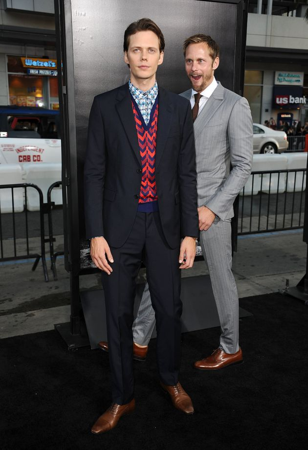 Alexander Skarsgard star-struck by... his own brother on the red carpet for the premiere of