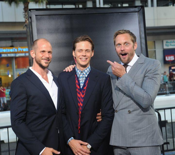 Gustaf, Bill and Alexander Skarsgard at the premiere of 'It'.
