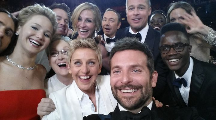 Probably the most famous selfie of all time.