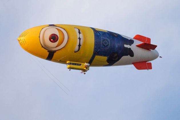 We tried looking for a Despicable Me image that had a surfboard in it, and this blimp was the closest...