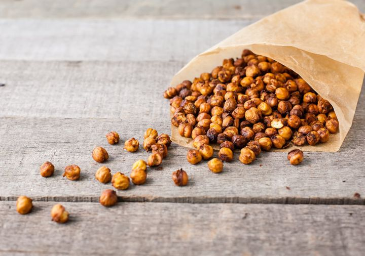 Experiment with different spices and herbs to flavour your chickpeas.