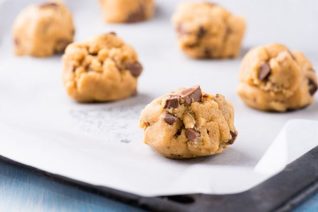 You could even bake this chickpea cookie dough to make