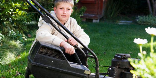 Lawn mowing and doing odd jobs for neighbours is a way for teens to earn