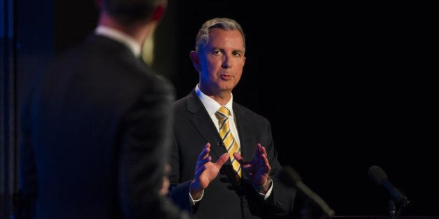 Opposition Leader Jeremy Hanson in the ACT leadership debate