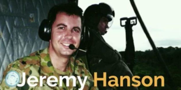 ACT Liberal Leader Jeremy Hanson appearing in army fatigues in a campaign