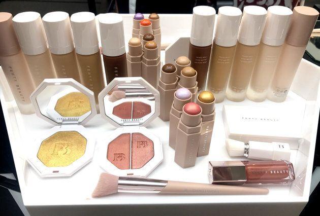 A selection of the new Fenty Beauty range.