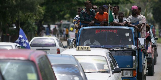 Taxi drivers become first aid responders after a disaster in the Solomon