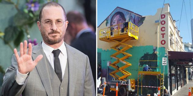 Film Director Darren Aronofsky Is 'Furious' After Ad Agency Paints Over Iconic Mural To Promote His Film