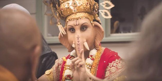 Ganesha, as depicted in the lamb ad