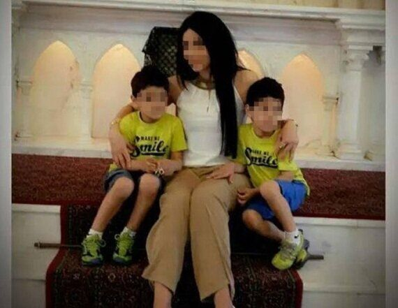 Rabia's wife and their sons, aged six and
