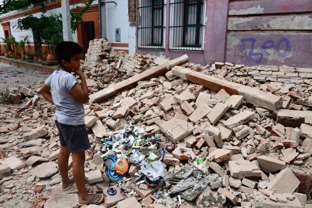 The town of Juchitan de Zaragoza was hit particularly