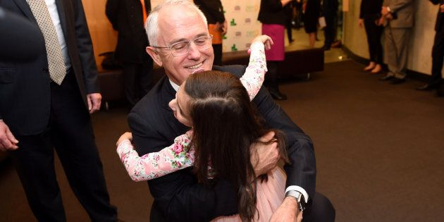 Malcolm Turnbull announced the latest election promise at Sydney Children's Hospital on