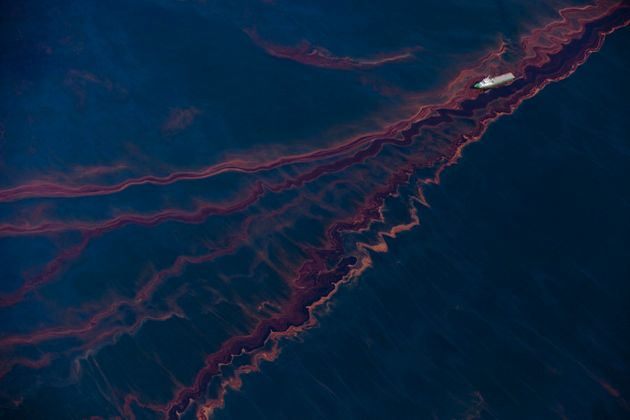 Oil on the sea surface following the Gulf of Mexico