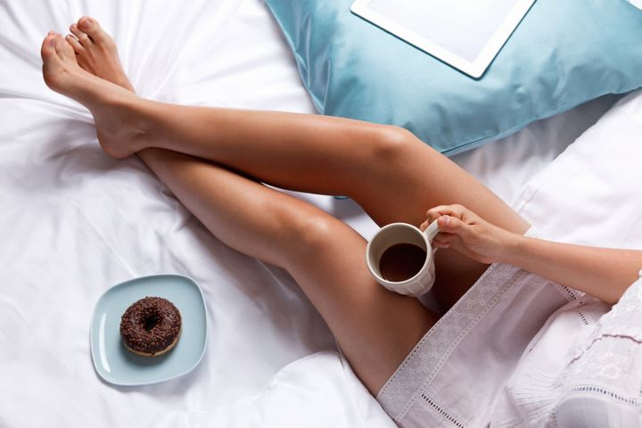 Keep it simple: get a good sleep, have a coffee and maybe a little treat.