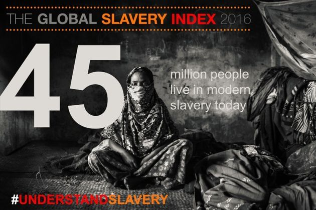 Fifty-eight percent of the world's slaves are in just five countries -- India, China, Pakistan, Bangladesh...