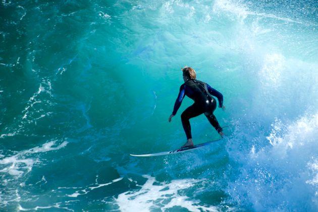 Surfing in Byron Bay,