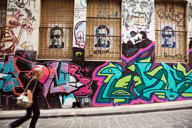 Melbourne is rich with colourful street art and
