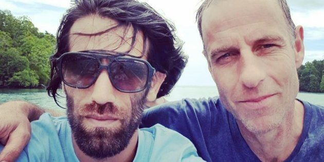 Nick McKim with Behrouz Boochani, a Kurdish journalist detained on Manus