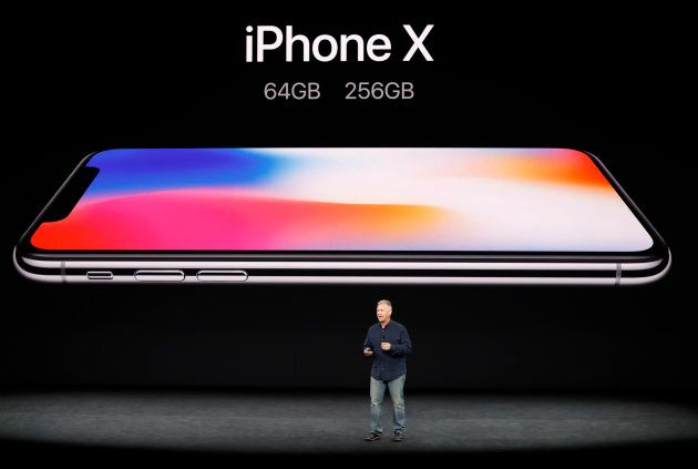 Apple Senior Vice President of Worldwide Marketing, Phil Schiller, introduces the iPhone X during a launch...