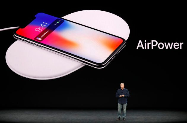 Schiller shows the AirPower wireless charging