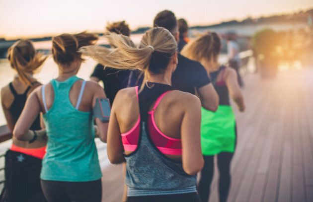 Joining a running group can help with motivation and keep you accountable.