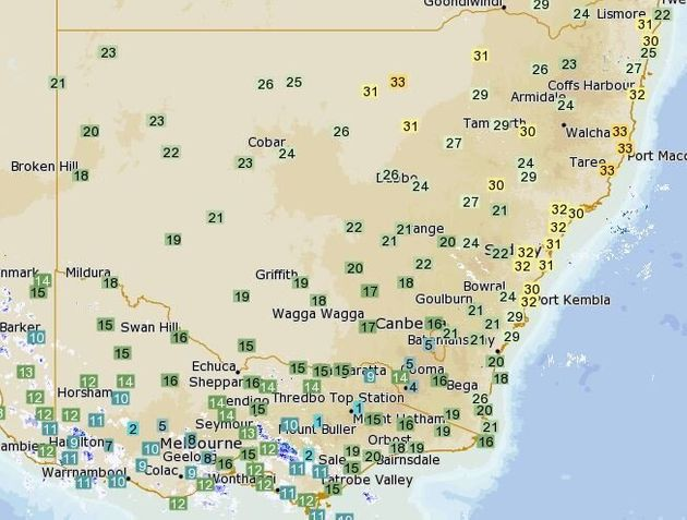 32 Degrees Before Midday, As Sydney's Record Dry Spell Turns Ridiculously