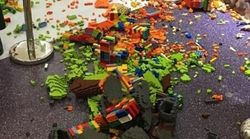 Boy Smashes $20,000 Lego Statue One Hour After It's Put On