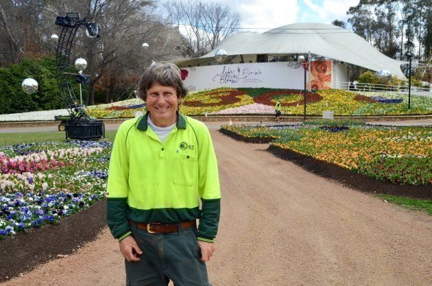 Floriade's head gardener Andrew Forster has been proudly involved in every single