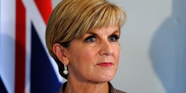 Foreign Minister Julie Bishop says two of three Australians in Chinese detention are
