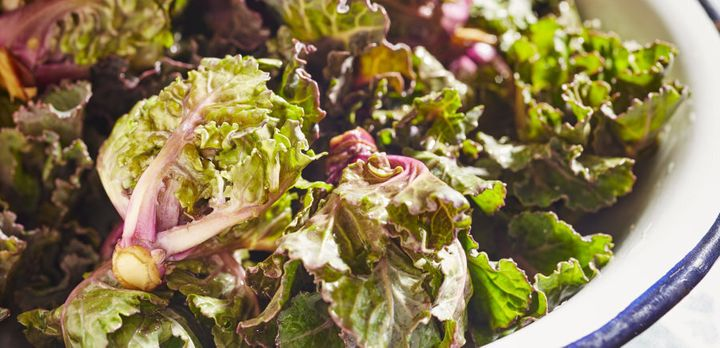 Kalettes are a cross between brussels sprouts and kale.