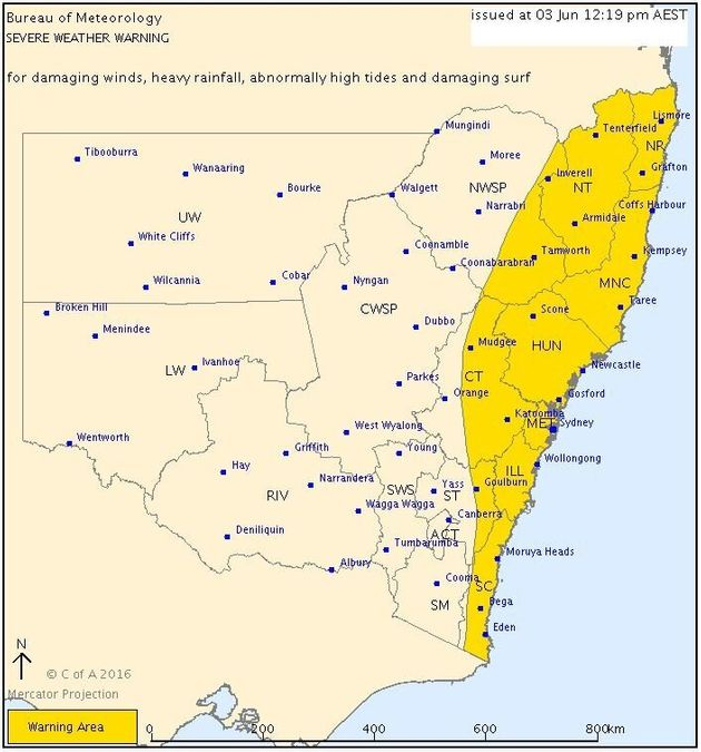 Sydney, Brisbane And Canberra Are In For Some Really Wet