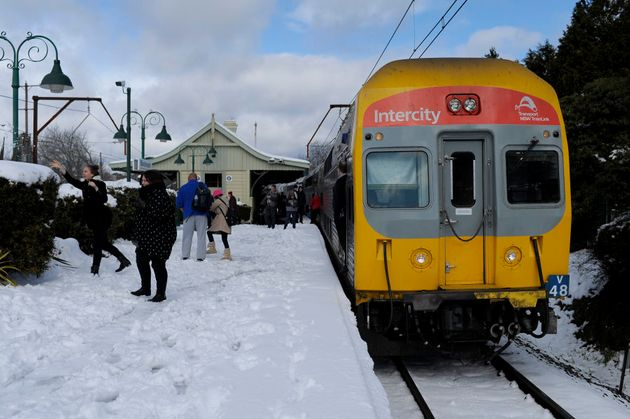 Blackheath train station, 90 mins west of Sydney in the Blue Mountains, July
