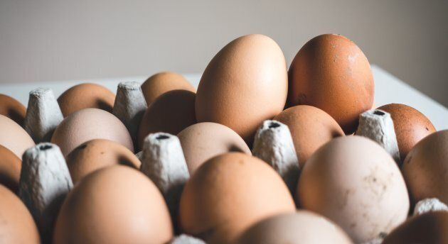 Eggs are a great source of protein.
