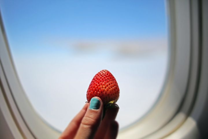 Berries are a great plane snack, just remember to eat all fruit before landing.