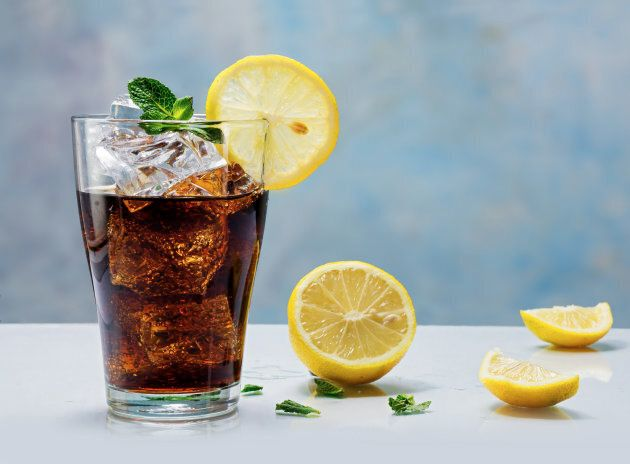 One glass of soft drink can eat up your entire day's added sugar allowance.